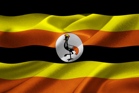 ugandan: Image of the national flag of Uganda