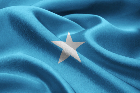 vintage wave: Image of national flag of Somalia blowing in the wind