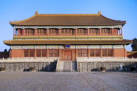 Image of beautiful imperial palace in the Forbidden City at Beijing, China Editöryel