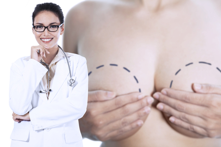 Young specialist breast cancer doctor smiling photo