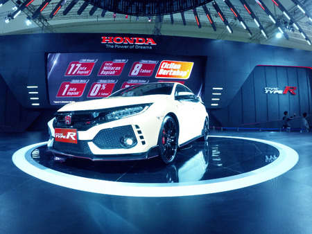 JAKARTA, Indonesia. August 24, 2017: Civic car from Honda with luxury design in the car show