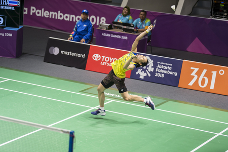 JAKARTA - Indonesia. August 21, 2018: Women's singles Tai Tzu-Ying of Chinese Taipei in action during Asian Games 2018 in Jakarta, Indonesia Redakční