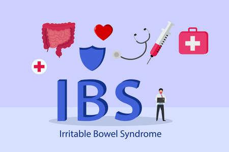 Irritable Bowel Syndrome (IBS) 2D flat vector concept for banner, website, illustration, landing page, flyer, etc