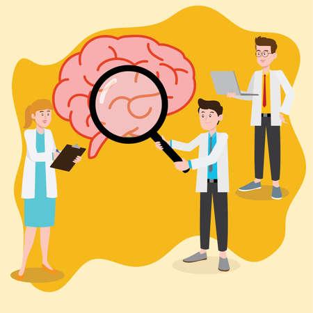 Neurologist vector concept Illusztráció