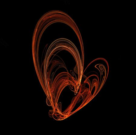 Computer generated fractal image: abstract burning heart photo