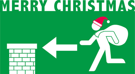 Merry Christmas pictogram Ilustracja