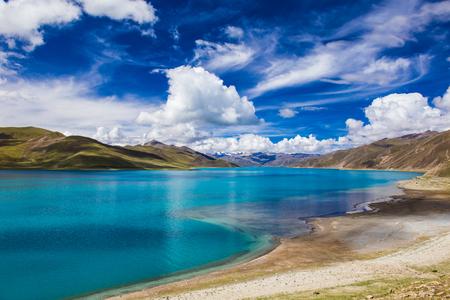 namtso lake scenery Foto de archivo