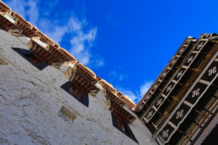 Kijk omhoog naar Potala Palace
