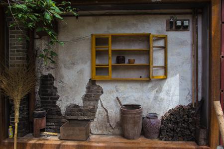 Het huis van een houthakker