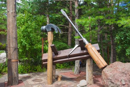Carpenter's tool statue