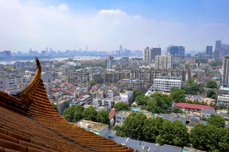 Cina hubei wuhan gialla torre gru Archivio Fotografico - 75516221