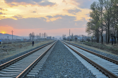 China's jilin railway 版權商用圖片 - 75535186