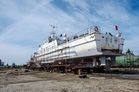 hebei: On October 28, 2016, shipyard of tangshan, hebei province. Editorial