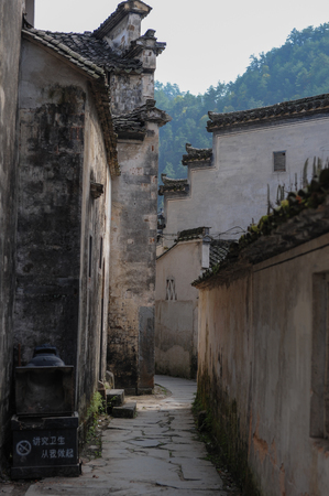 In 2011, I took a picture of xixigu village in yixian county, anhui province. Banco de Imagens