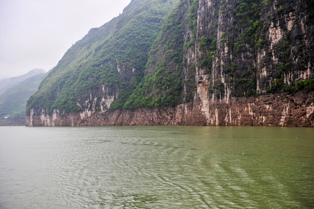 On May 30, 2011, three gorges of the Yangtze river in China The three gorges on the Yangtze river are a spectacular grand canyon in the Yangtze river, one of Chinas ten scenic spots. It is composed of qutang gorge, wuxia and xiling gorge, which span 191  Stock Photo