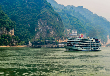On May 30, 2011, three gorges of the Yangtze river in China The three gorges on the Yangtze river are a spectacular grand canyon in the Yangtze river, one of Chinas ten scenic spots. It is composed of qutang gorge, wuxia and xiling gorge, which span 191  Editorial