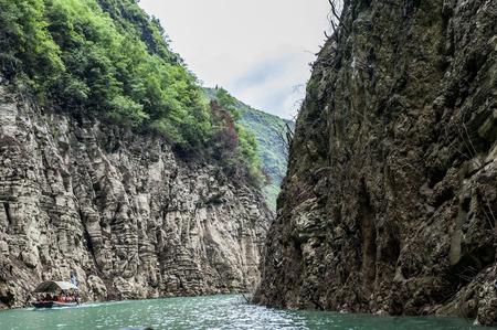 충칭, 중국 wushan 카운티에서 작은 3 협곡 풍경 스톡 콘텐츠