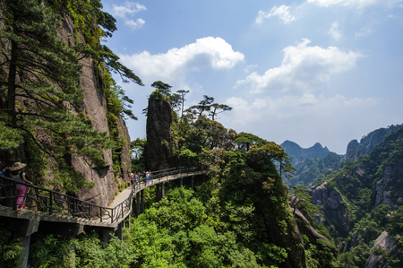 The sanqingshan scenery at the junction of yushan county and dexing city, shanrao city, jiangxi province, China