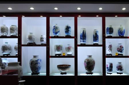 Jingdezhen ceramics in jingdezhen, jiangxi province, China Editorial