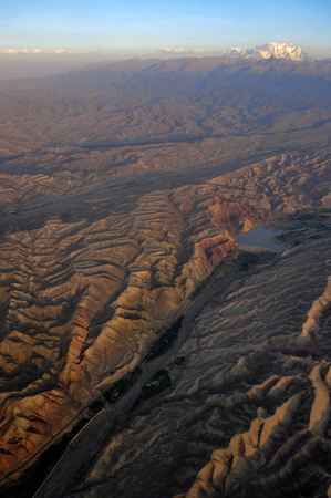 Aerial photography of tianshan scenery