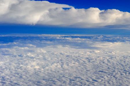 Aerial sea of clouds