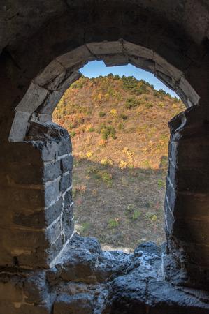 The Great Wall of qingshan. 版權商用圖片
