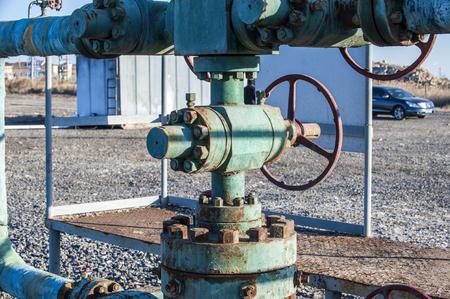 Oil pipelines, bridges and valves 写真素材