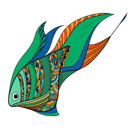 bunter fisch: Abstrakte bunte Fische Illustration