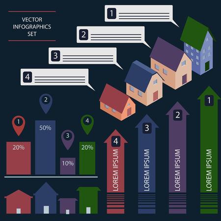 Real estate infogrephic set Vector