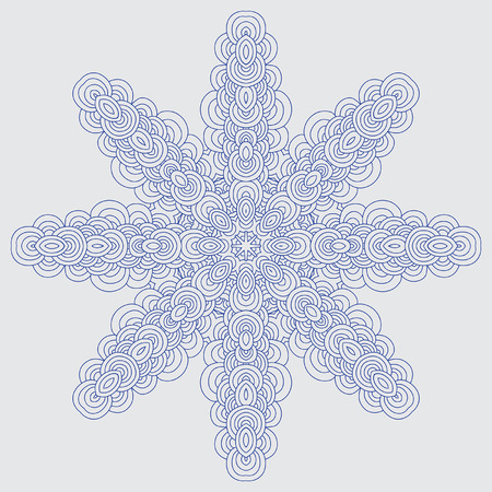 Star shaped ornament Vector