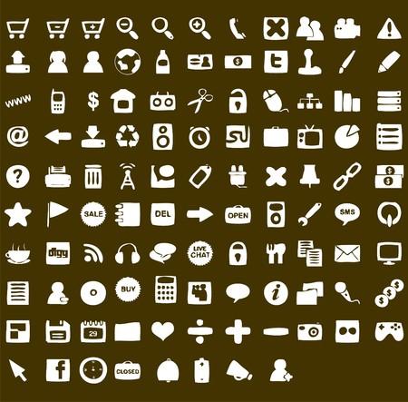 communicatie: website en internet iconen  Stock Illustratie