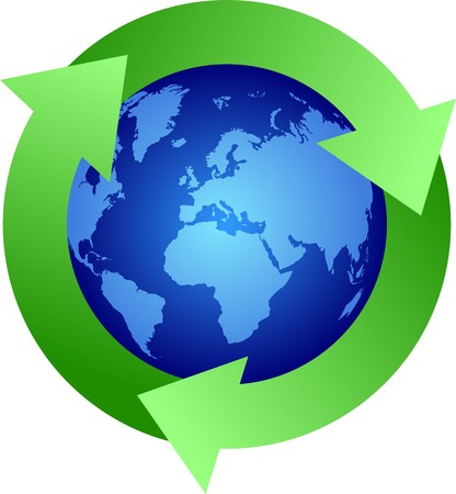 Recycle  earth symbol Stock Vector - 7582226