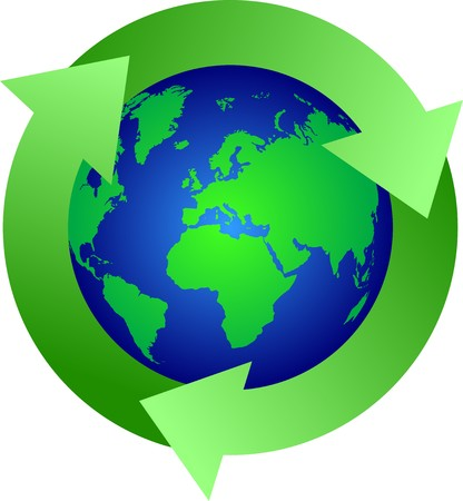 green Recycle  earth symbol Stock Vector - 7582228