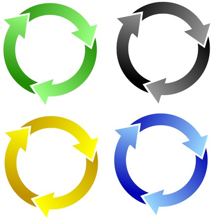 recycling symbol set Stock Vector - 7582175