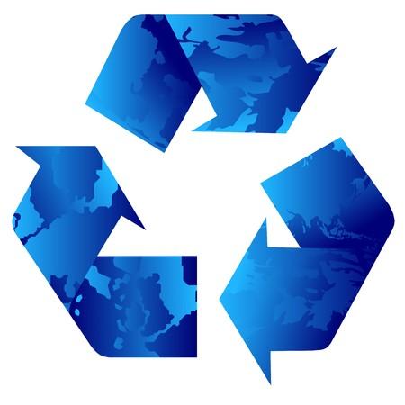 social issues: riciclaggio blu Vettoriali