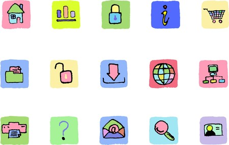 website and internet icons  Fresh color Vector
