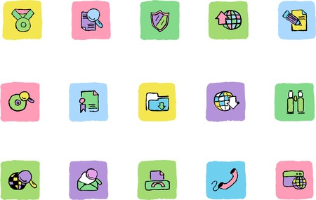 rectangluar: Internet icons  Fresh color