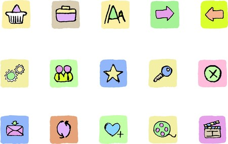 website and internet icons  Fresh color Stock Vector - 7582286