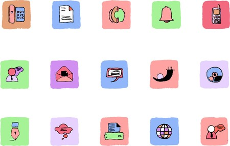 circularity: Communication icons  Fresh color Illustration