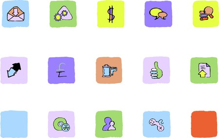 Internet  icons   Fresh color Stock Vector - 7582234