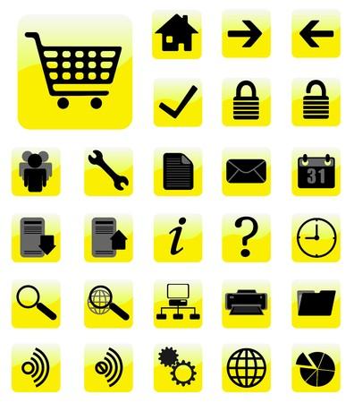 circle calendar date: internet icons set