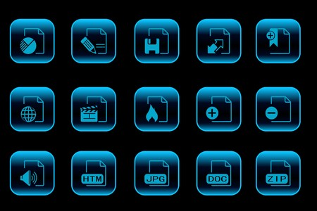 formats: Document and File formats icons blue Series