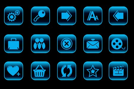website and internet icons   blue Vector
