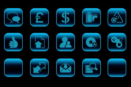 Internet  icons blue Series Vector