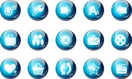 website and internet icons  cyan crystal Series Illustration