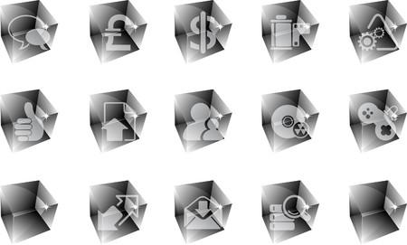 Internet  icons ice Stock Vector - 7612319