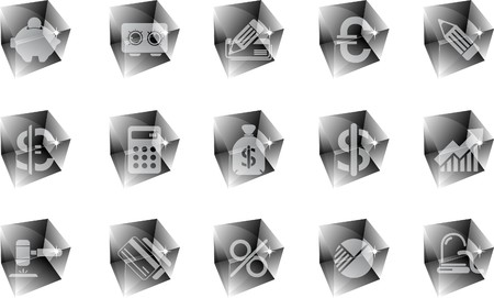 newsfeed: Finance and Banking icons ice Illustration