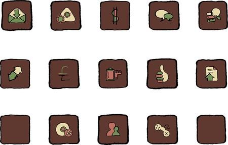 rectangluar: Internet  icons Renaissance colors