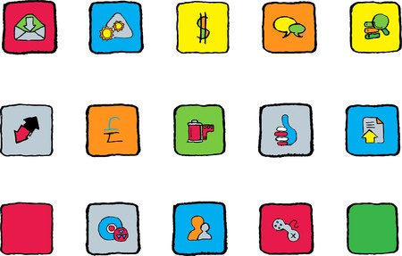 Internet  icons Bright colors Vector