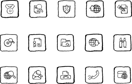 rectangluar: Internet icons grunge line